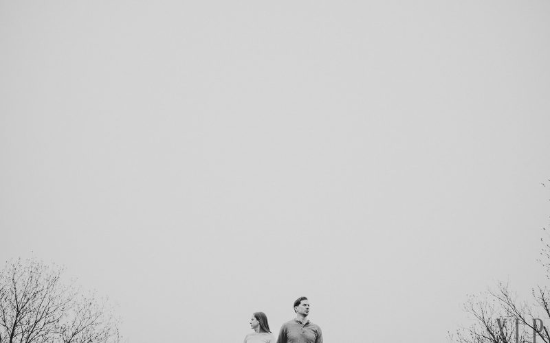 Engagement portrait at Middlesex Fells by Wright Tower