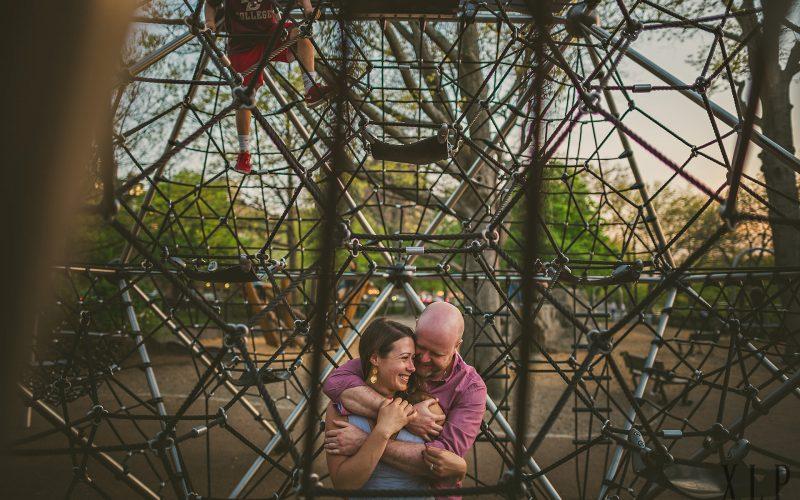 Playful Esplanade Engagement Portraits (1)