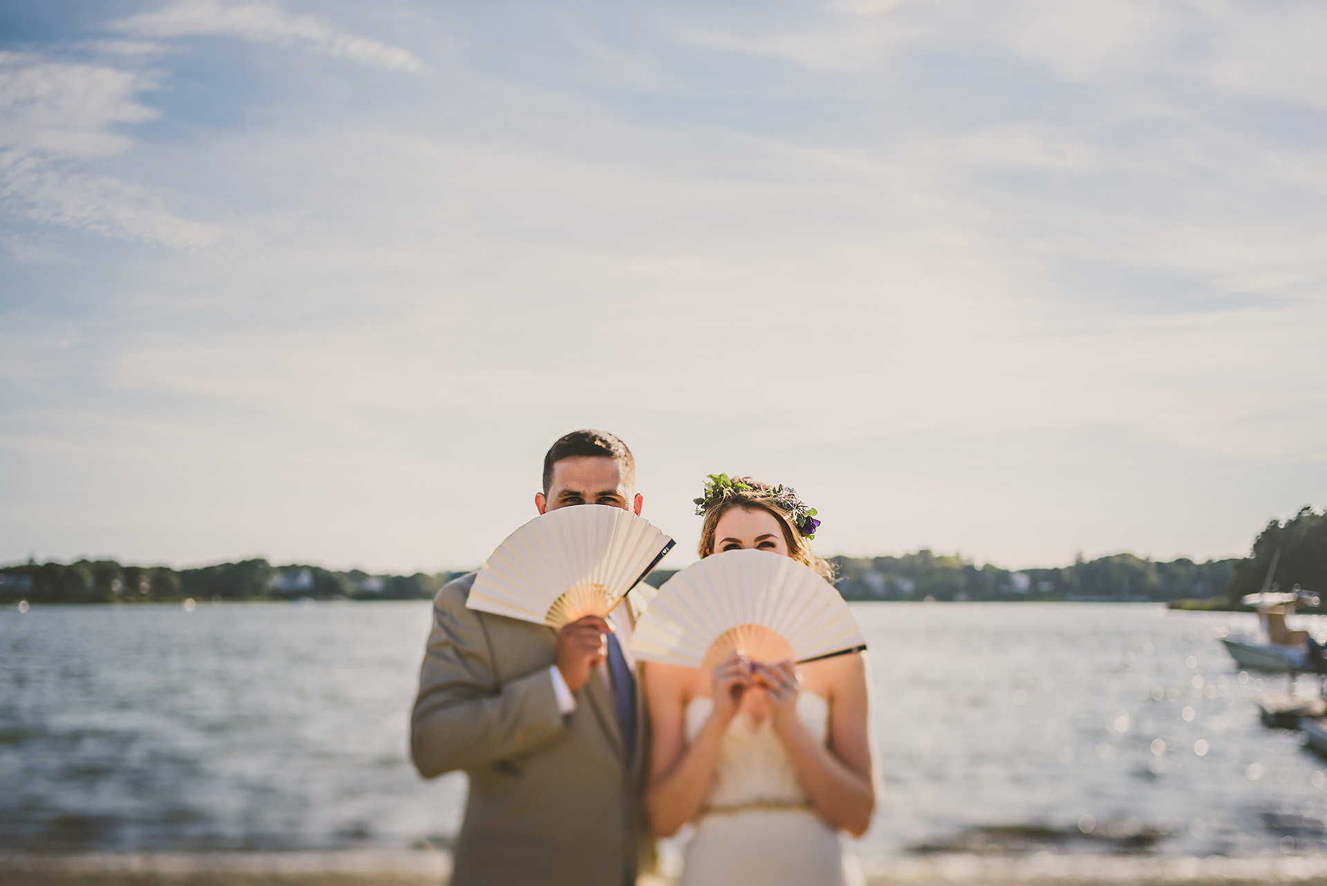 Artistic cape cod wedding portrait