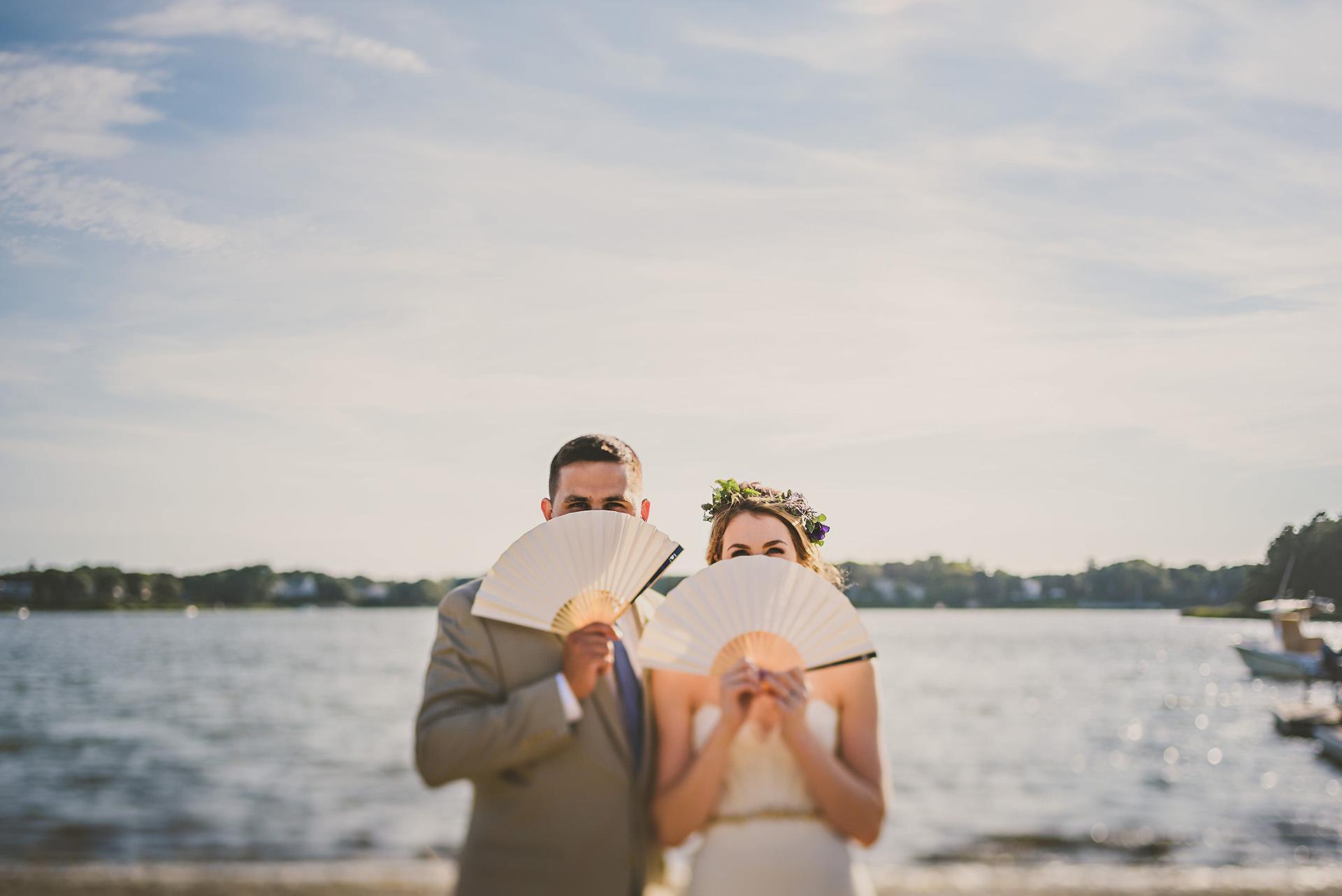 Artistic cape cod wedding portrait